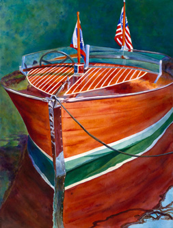 Anticipation - Classic Boat Paintings by Janne Matter