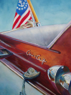 Chris - Classic Boat Paintings by Janne Matter