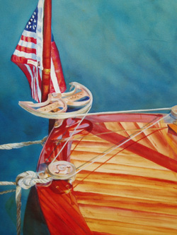 Dave's Boat - Classic Boat Paintings by Janne Matter
