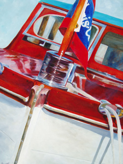 Fourth On The List - Classic Boat Paintings by Janne Matter