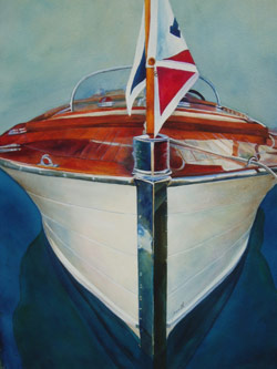 Head On - Classic Boat Paintings by Janne Matter