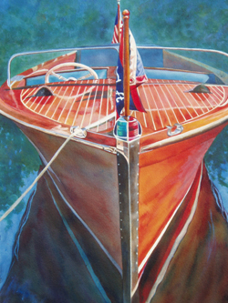 Miss Chris - Classic Boat Paintings by Janne Matter