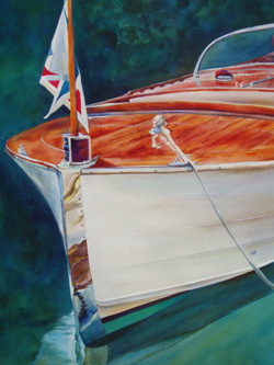Rio Blanco - Classic Boat Paintings by Janne Matter