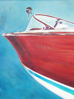 Smooth Ride - Classic Boat Paintings by Janne Matter