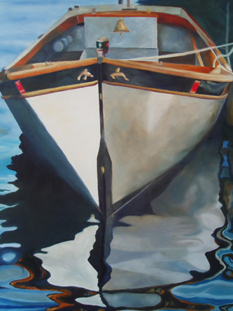 Captain's Gig - Wooden Boat Paintings by Janne Matter