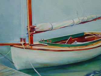 Cat - Wooden Boat Paintings by Janne Matter
