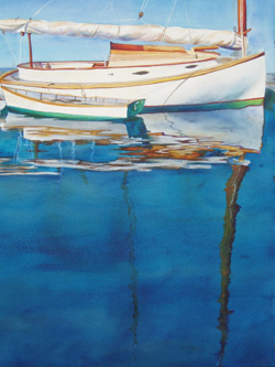Chatham Cat - Wooden Boat Paintings by Janne Matter