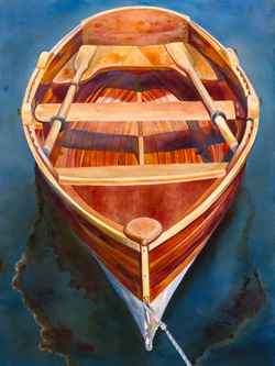 Cosine Wherry - Wooden Boat Paintings by Janne Matter