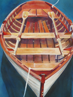 Hand Made - Wooden Boat Paintings by Janne Matter