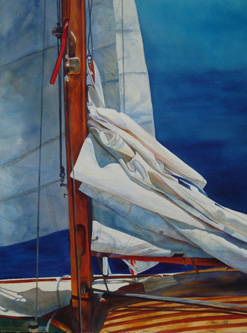 Sail Faces - Wooden Boat Paintings by Janne Matter