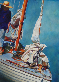 Sails Lady - Wooden Boat Paintings by Janne Matter