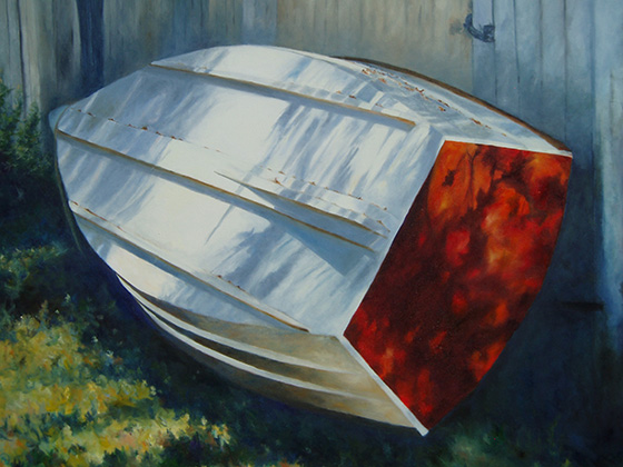 Shore leave - Wooden Boat Paintings by Janne Matter