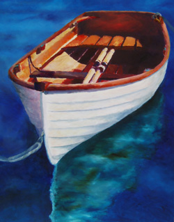 Solo - Wooden Boat Paintings by Janne Matter