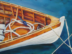 Take A Bow - Wooden Boat Paintings by Janne Matter