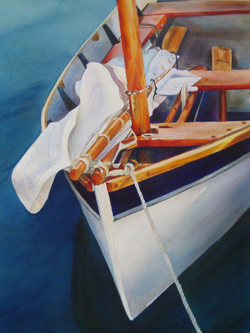 Two Oars - Wooden Boat Paintings by Janne Matter