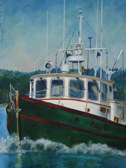 Widgeon - Wooden Boat Paintings by Janne Matter